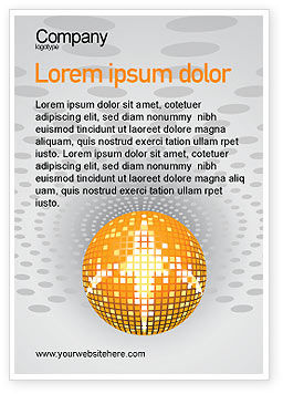 Disco Ball Ad Template, 02785, Art & Entertainment — PoweredTemplate.com