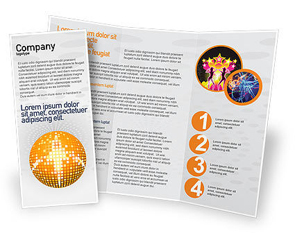 Art & Entertainment: Disco Ball Brochure Template #02785