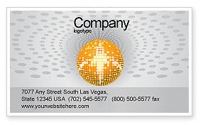 Art & Entertainment: Disco Ball Business Card Template #02785