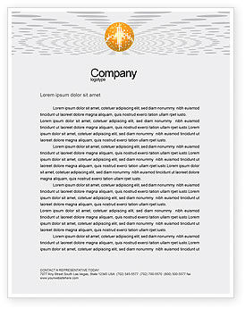 Art & Entertainment: Disco Ball Letterhead Template #02785