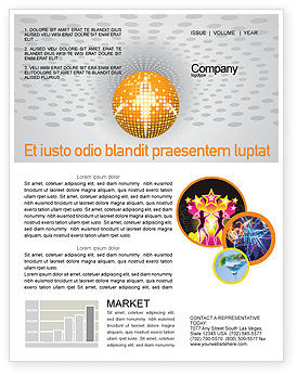 Disco Ball Newsletter Template, 02785, Art & Entertainment — PoweredTemplate.com