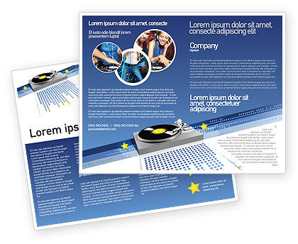 Party DeeJay Brochure Template, 02786, Art & Entertainment — PoweredTemplate.com