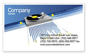 Party DeeJay Business Card Template, 02786, Art & Entertainment — PoweredTemplate.com