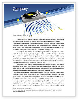 Art & Entertainment: Party DeeJay Letterhead Template #02786