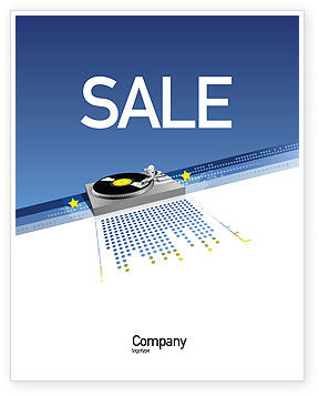 Art & Entertainment: Party DeeJay Sale Poster Template #02786