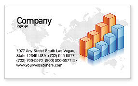 Business: Graphs Business Card Template #02792