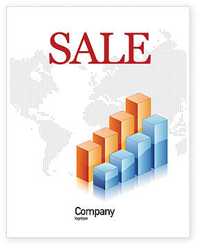 Business: Graphs Sale Poster Template #02792