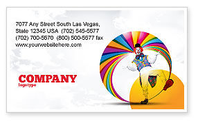 Holiday/Special Occasion: Clown Business Card Template #02801