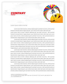 Clown Letterhead Template, 02801, Holiday/Special Occasion — PoweredTemplate.com