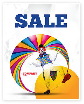 Clown Sale Poster Template, 02801, Holiday/Special Occasion — PoweredTemplate.com