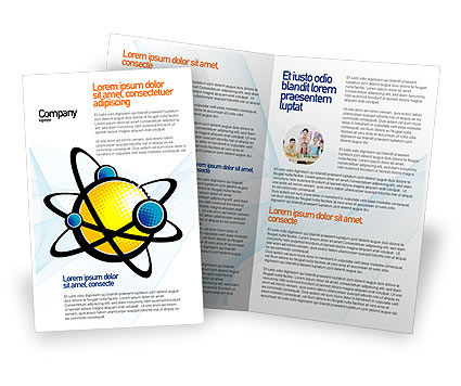Atom Brochure Template, 02803, Education & Training — PoweredTemplate.com