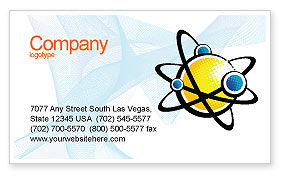 Education & Training: Atom Business Card Template #02803