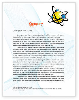 Education & Training: Atom Letterhead Template #02803