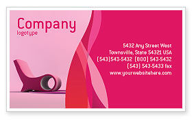 Modern Interior Design Business Card Template, 02808, Construction U2014  PoweredTemplate.com