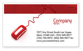 Computer Pulse Business Card Template, 02809, Medical — PoweredTemplate.com