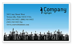 City Business Card Template, 02814, Business — PoweredTemplate.com
