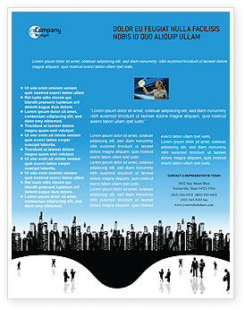 City Flyer Template, 02814, Business — PoweredTemplate.com
