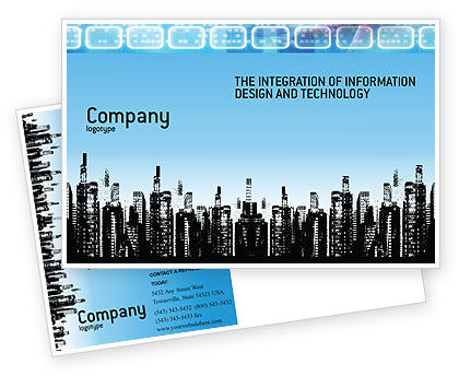 Business: City Postcard Template #02814