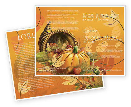 Holiday/Special Occasion: Modèle de Brochure de jour de thanksgiving #02819
