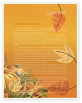 Holiday/Special Occasion: Thanksgiving Day Letterhead Template #02819