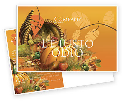 Holiday/Special Occasion: Modèle de Carte postale de jour de thanksgiving #02819
