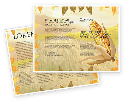 Agriculture and Animals: Free Corn Thanksgiving Brochure Template #02821
