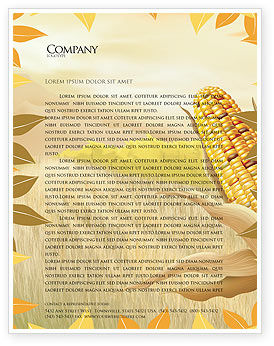 Free Corn Thanksgiving Letterhead Template, 02821, Agriculture and Animals — PoweredTemplate.com