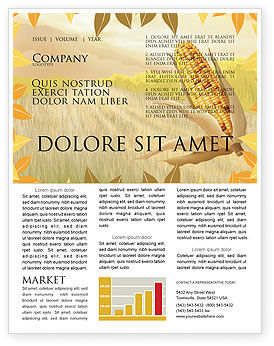 Free Corn Thanksgiving Newsletter Template, 02821, Agriculture and Animals — PoweredTemplate.com