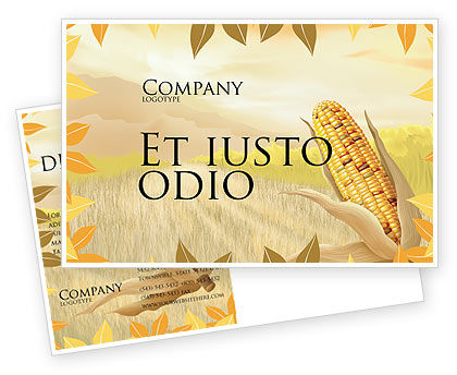 Free Corn Thanksgiving Postcard Template, 02821, Agriculture and Animals — PoweredTemplate.com