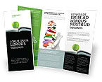 Education & Training: Plantilla de folleto - libro y manzana #02824