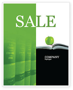 Education & Training: Book And Apple Sale Poster Template #02824