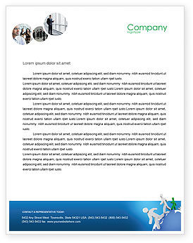 3D: World Ties Letterhead Template #02827
