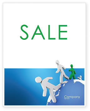 World Ties Sale Poster Template, 02827, 3D — PoweredTemplate.com