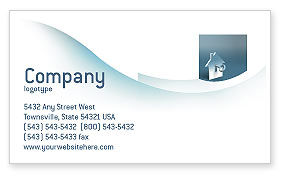 Business: Keyhole Business Card Template #02830