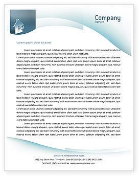 Keyhole Letterhead Template, 02830, Business — PoweredTemplate.com