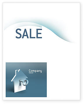 Business: Keyhole Sale Poster Template #02830