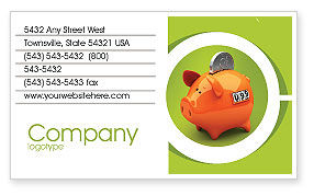 Piggy-bank Business Card Template, 02832, Financial/Accounting — PoweredTemplate.com