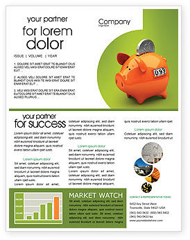 Financial/Accounting: Piggy-bank Newsletter Template #02832