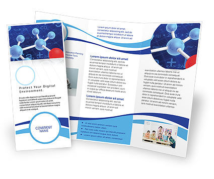 Technology, Science & Computers: Molecular Skeleton Brochure Template #02833