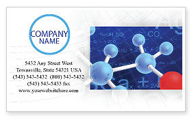Molecular Skeleton Business Card Template, 02833, Technology, Science & Computers — PoweredTemplate.com