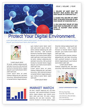 Molecular Skeleton Newsletter Template, 02833, Technology, Science & Computers — PoweredTemplate.com