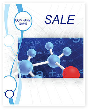 Technology, Science & Computers: Moleculaire Skelet Poster Template #02833