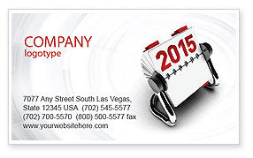 Business Concepts: Throw-Over for 2015 Business Card Template #02834