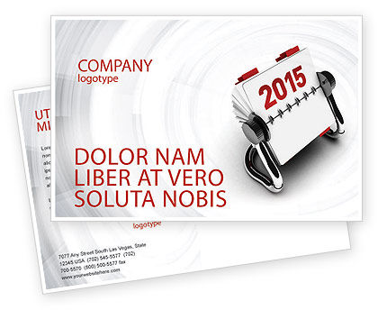 Business Concepts: Throw-Over for 2015 Postcard Template #02834