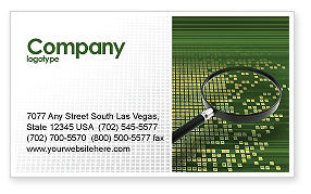 Technology, Science & Computers: Retrieval Information Business Card Template #02835