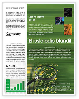 Retrieval Information Newsletter Template, 02835, Technology, Science & Computers — PoweredTemplate.com