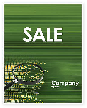 Technology, Science & Computers: Retrieval Information Sale Poster Template #02835