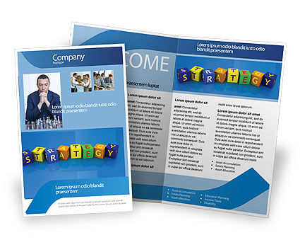 3D: Business Strategy Education Brochure Template #02836