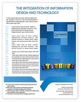 3D: Business Strategy Education Flyer Template #02836