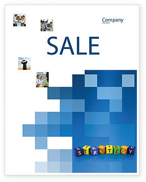 3D: Business Strategy Education Sale Poster Template #02836